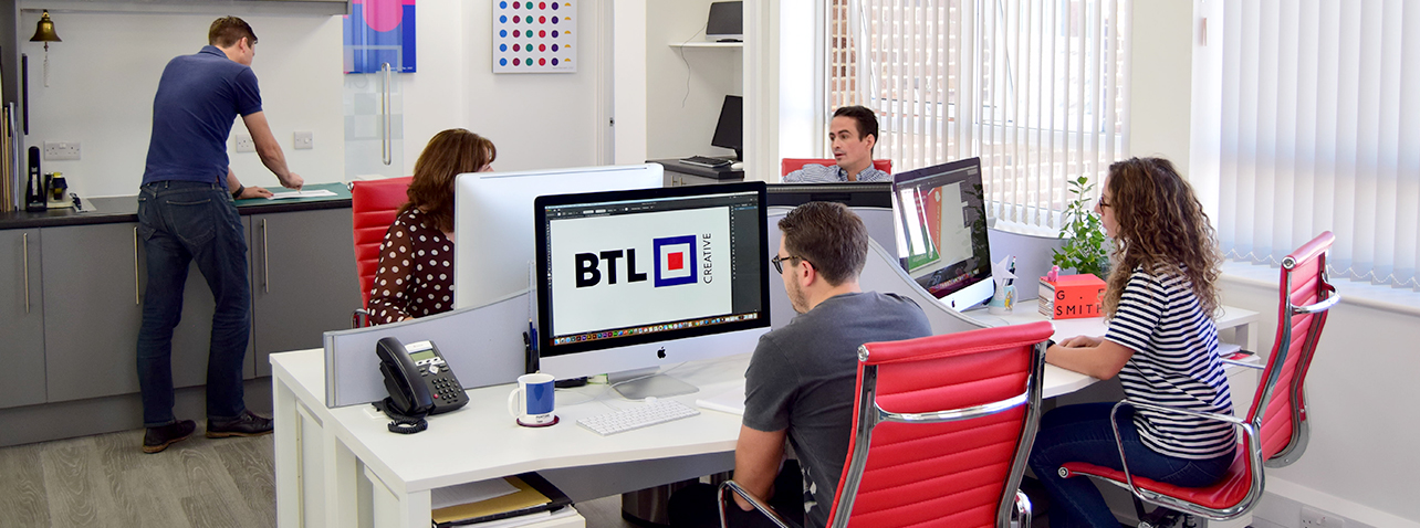 The BTL Creative team, hard at work